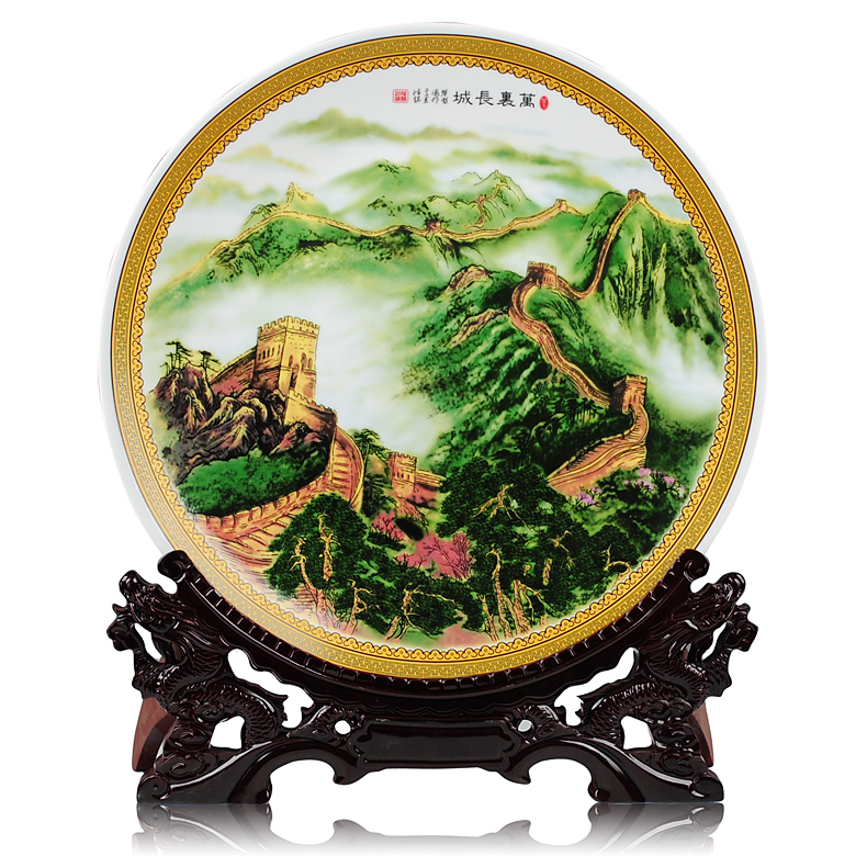 Get Quotations · Ceramic decorative plate hanging plate jingdezhen ceramics pastels of the great wall chinese home decoration crafts  sc 1 st  Shopping Guide - Alibaba & China Hanging Wall Plate China Hanging Wall Plate Shopping Guide at ...