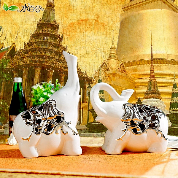 Ceramic elephant ornaments lucky lucky elephant animal crafts home furnishings decorations wedding gifts