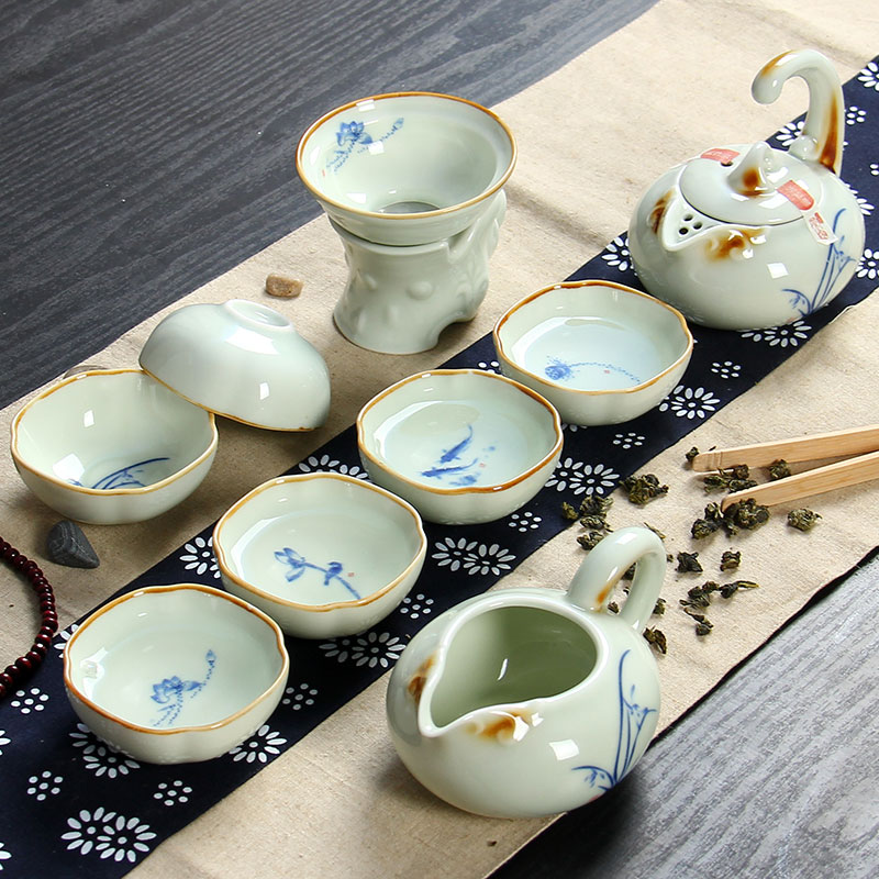 ç¾é¸¿ceramic tea boutique kung fu tea gift package special offer without tray