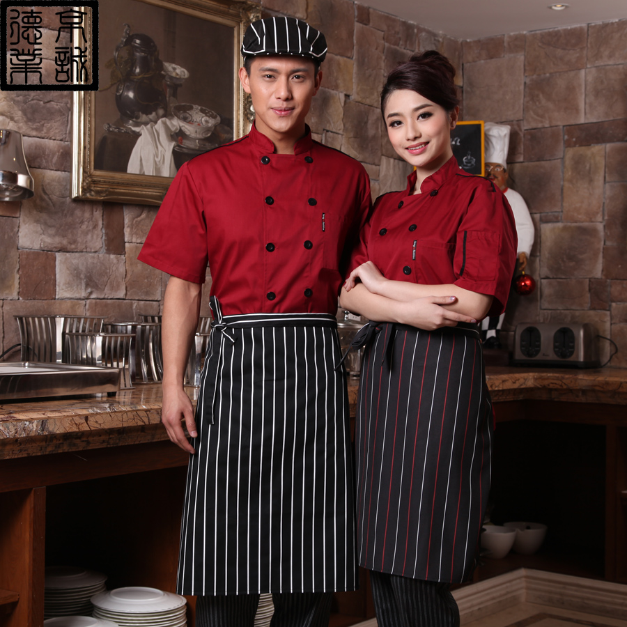 Ceri german industry chef clothing chef uniforms chef clothing short sleeve double-breasted chef service hotel chef clothing men short sleeve summer