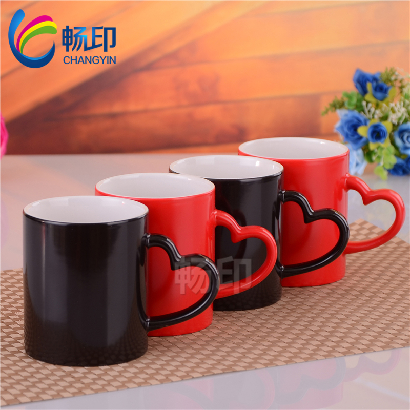 Chang printed diy custom color mug cup creative personalized custom printed photo mug lovers gift sale
