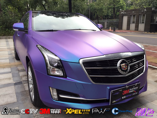 Change color film imported us 3 m 1080 series body film diamond stars purple charm blue dataâdata based construction