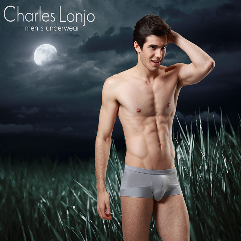 Charleslonjo fallon in bamboo fiber men's underwear boys underwear corners waist body sculpting comfort through the