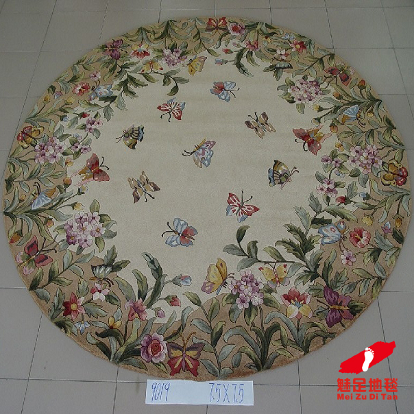 * * Charm foot carpet wool carpet/european carpet/coffee table carpet/bedroom carpet/rug round