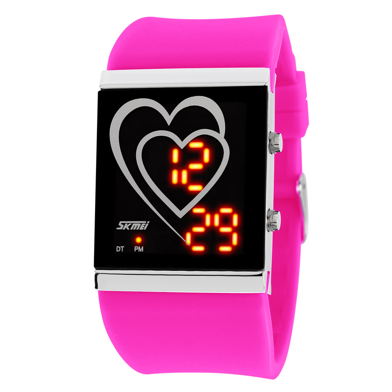 Cheap led electronic watches korean female form waterproof ladies fashion sports men watch students jelly fashion watch