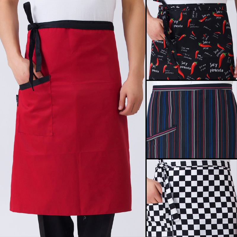 Chef aprons bust hotel restaurant kitchen chef chef custom short paragraph striped apron chef apron male bust circumference