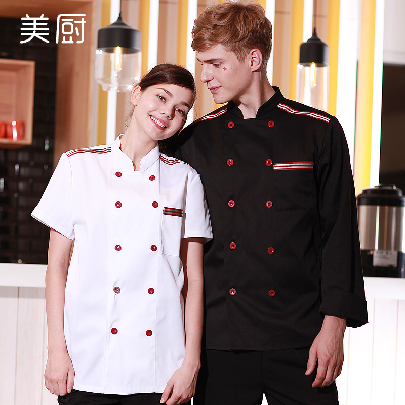 Chef clothing short sleeve summer men and women after the restaurant kitchen chef clothing chef uniforms hotel restaurant kitchen chef sleeved overalls room
