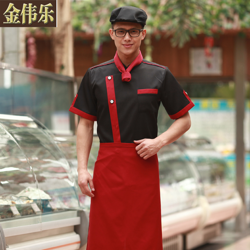 Chef clothing short sleeve summer uniforms chef service hotel chef chef service hotel restaurant kitchen apron kitchen clothing kitchen clothing division