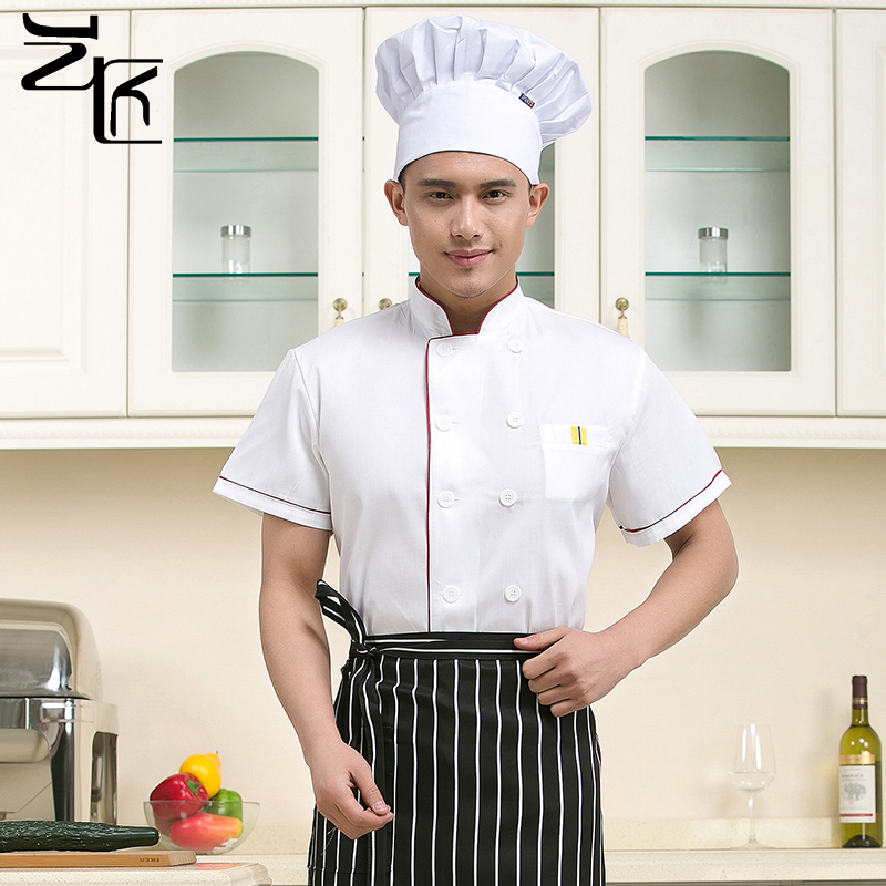 Chef service hotel chef clothing chef sleeved chef clothing chef uniforms male chef service hotel chef uniforms short sleeve sleeve