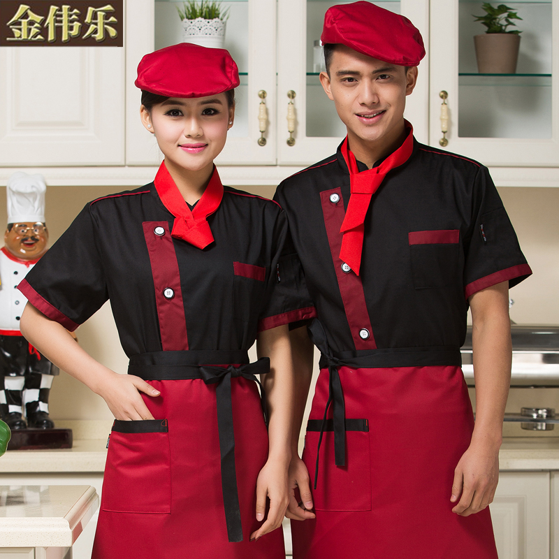 Chef service hotel chef clothing short sleeve summer uniforms chef service hotel chef kitchen chef kitchen clothing hotel restaurant kitchen clothing division