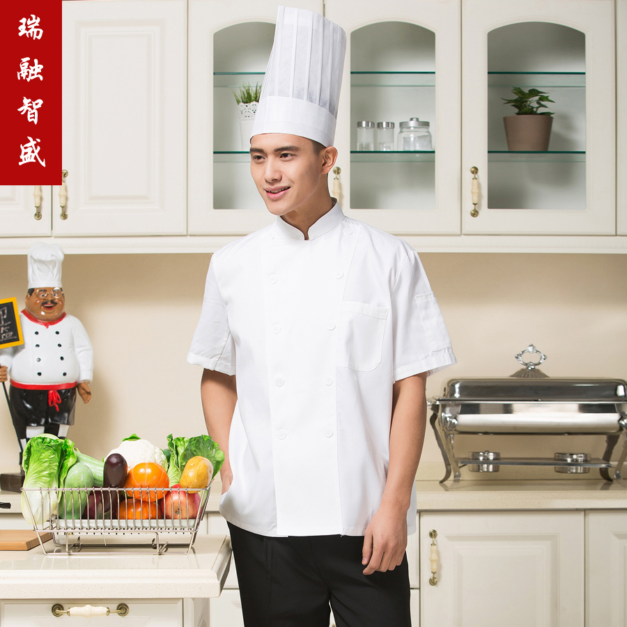 Chef service hotel restaurant chef service hotel chef clothing kitchen clothing short sleeve summer kitchen chef uniforms
