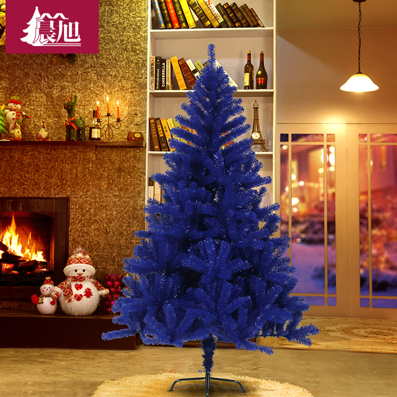 Chen xu blue pvc blue christmas tree 150cm luxury encryption christmas tree decorated christmas tree bare tree