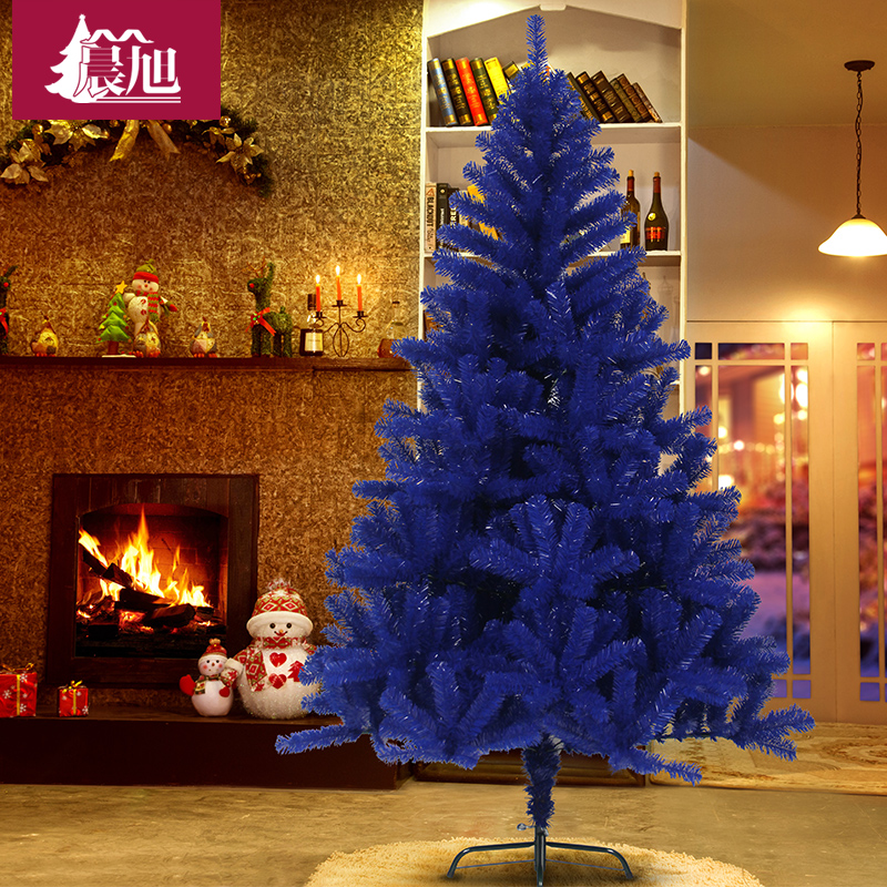 Chen xu blue pvc blue christmas tree 210cm luxury encryption christmas tree decorated christmas tree bare tree