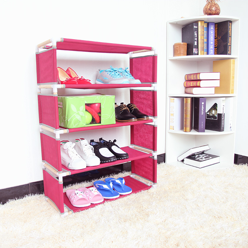 Chen yi gifted a simple multilayer wood dust shoe shoe shoe rack living room special economic shelf