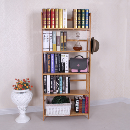 Chen yi gifted children bamboo bookcase bookcase simple student multilayered wood bookcase toy storage rack multilayer grid shelf