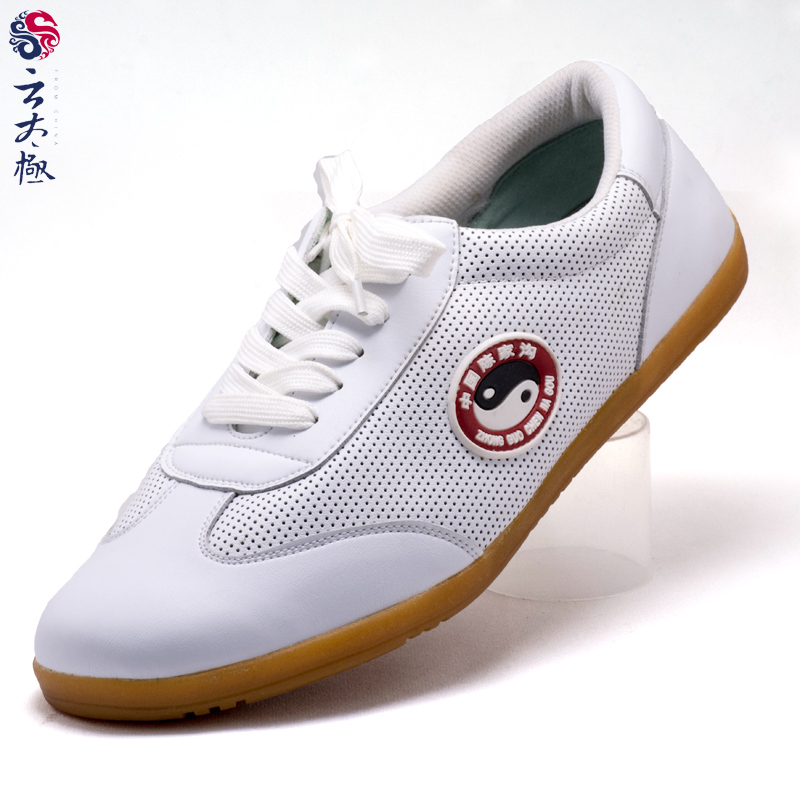 Chenjiagou handmade soft wearable tendon at the end leather shoes tai chi practice shoes martial arts shoes cool summer