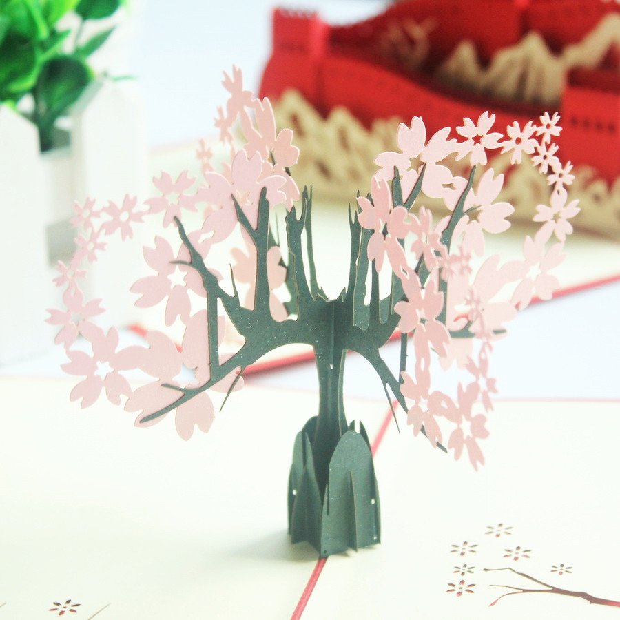China greeting cards china greeting cards shopping guide at alibaba get quotations cherry tree stereoscopic 3d creative halloween christmas thanksgiving greeting cards thanks greeting cards birthday ritual items kristyandbryce Image collections