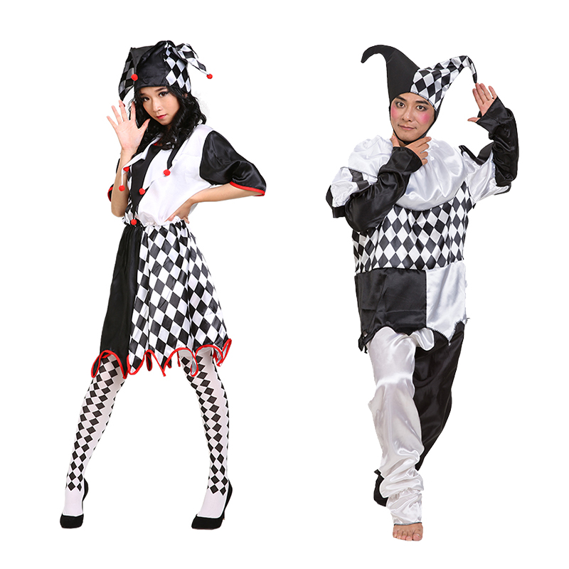 Cheung man cosplay costume clown costume clown suit lovers female models in black and white clown clothes clown costumes clown clothes