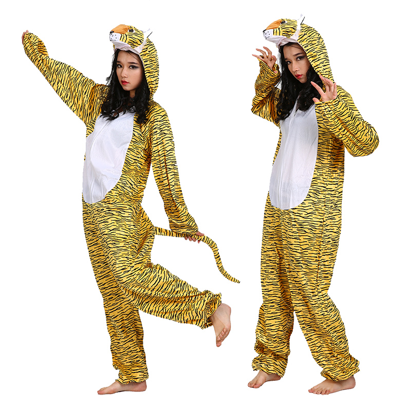 Cheung man cosplay halloween performance clothing twelve adult tiger zodiac animal costumes clothes