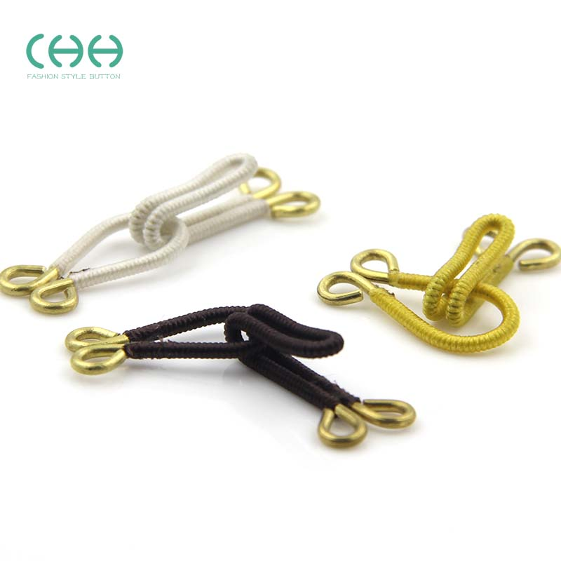 Chh brass hook clasp hook buckle clasp dark fur coat cloth bag buckle collar hook clasp buckle discipline invisible adjustable hook