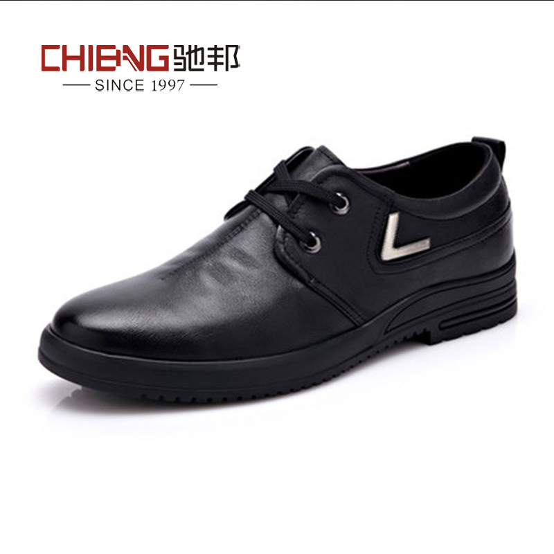 Chi bang new business casual leather shoes male british round lace shoes male pop male