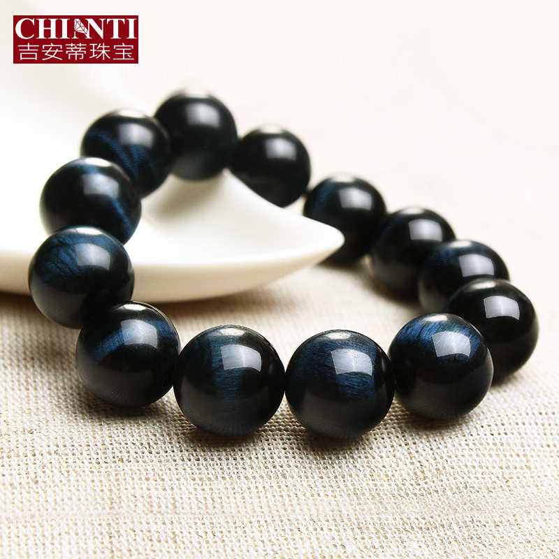 Chianti pearl sapphire blue tiger eye stone tiger eye bracelet male and female models lap beads bracelets couple bracelets
