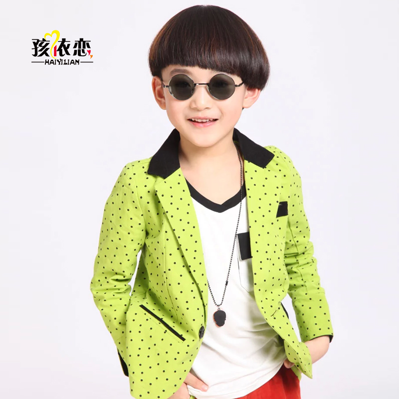 Child attachment kids 2016 spring new children boys suits dress suit korean version of the trend dot