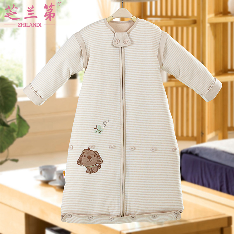 Children baby sleeping baby sleeping bag anti tipi autumn and winter thick section cotton infant cotton detachable bile four seasons general