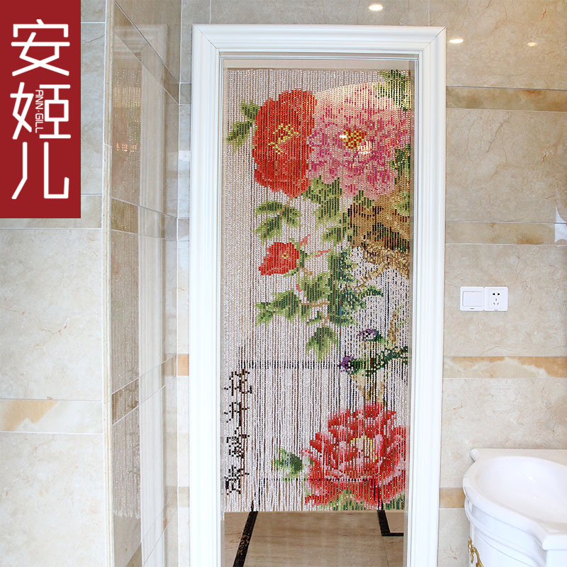 Children crystal ann suu kyi composea portieres peony off crystal bead curtain off the entrance curtain curtain curtain and a half bathroom curtain
