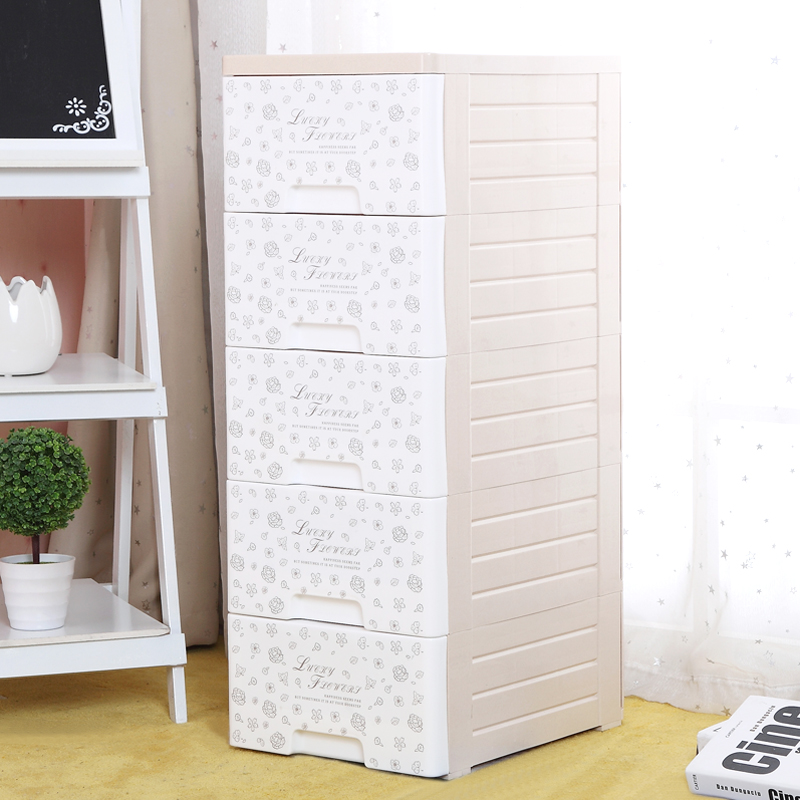 Children drawer storage cabinets multilayer plastic wardrobe clothes storage box finishing cabinet storage lockers sub 3 layer 5 layer