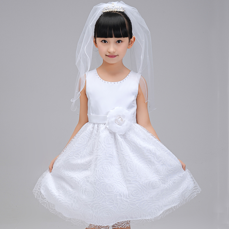 Children dress princess dress girls dress skirt autumn and winter flower girl dresses wedding dress piano performances tutu dress