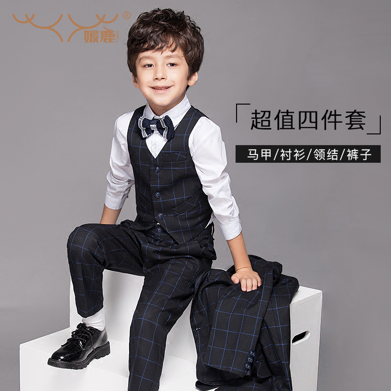 5e549abcf4576 Get Quotations · Children dress suit suit men of england wedding flower  girl boy piano performance clothing autumn baby