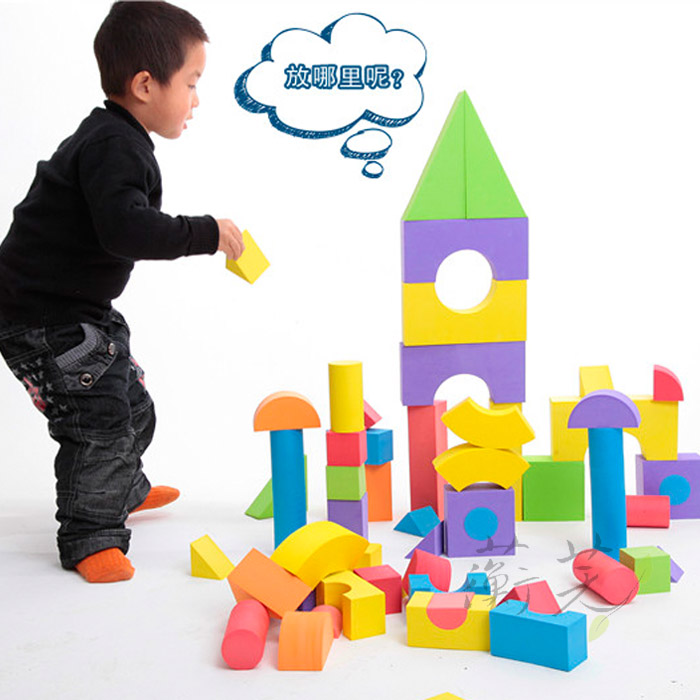 Children eva foam building blocks chunk baby tasteless security can be cleaned software puzzle assembling toys 1-3-6 years old