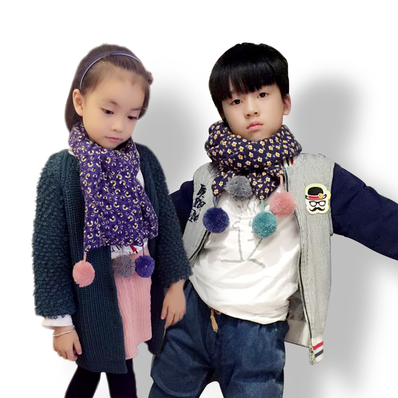 Children fall and winter scarves korean cotton baby warm scarf scarf collars autumn and winter fashion wild boys and girls