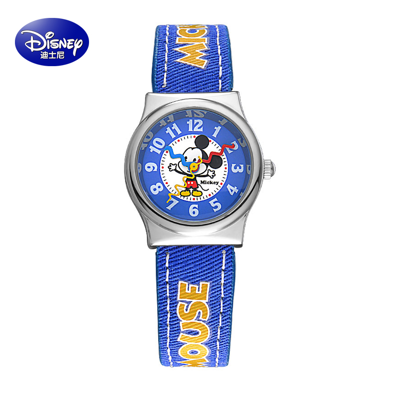 Children watch boy pupils belt pointer quartz watch mickey cartoon disney watches female child table