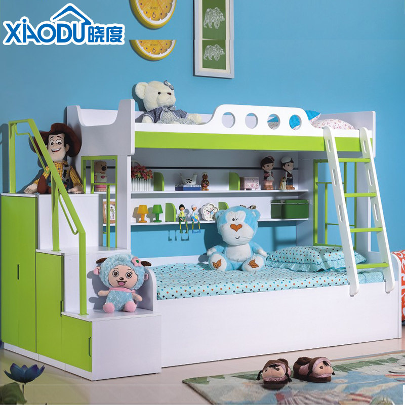 Children's alphabet picture bed bunk bed bunk bed bed bed bunk bed with guardrail bed suites of furniture shop