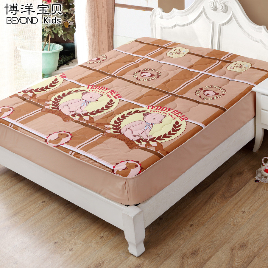 Children's bedding bo yang bo yang textile bedding gosklno/teddy bear washable mattress mattress single double