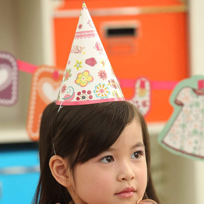 Children's birthday baby birthday party hat party hat party hat carnival hat dress atmosphere supplies 6 loaded