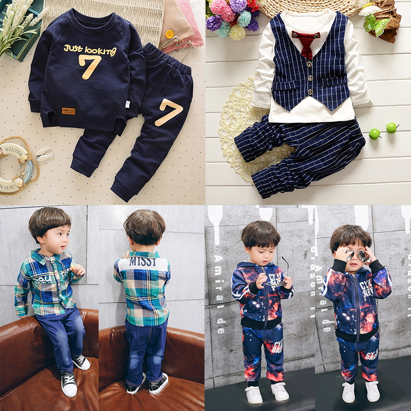 Children's clothing for men and women baby suit baby clothes long sleeve 2016 new autumn suit 1-2-3-4-5-year-old