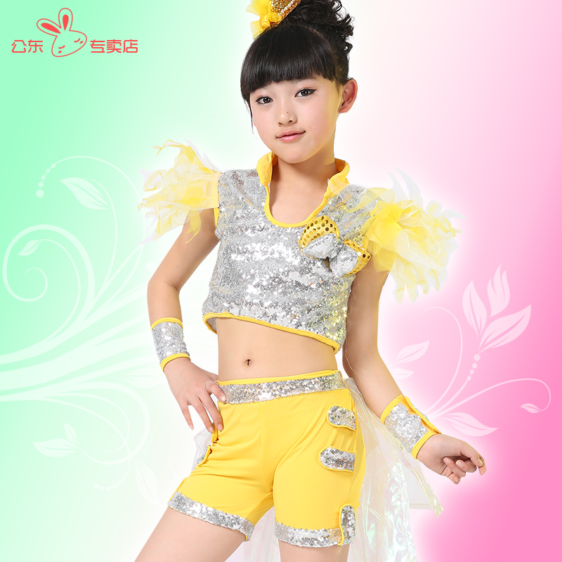 Children's costumes girls costumes jazz dance performance clothing infant clothing children's jazz dance costumes female