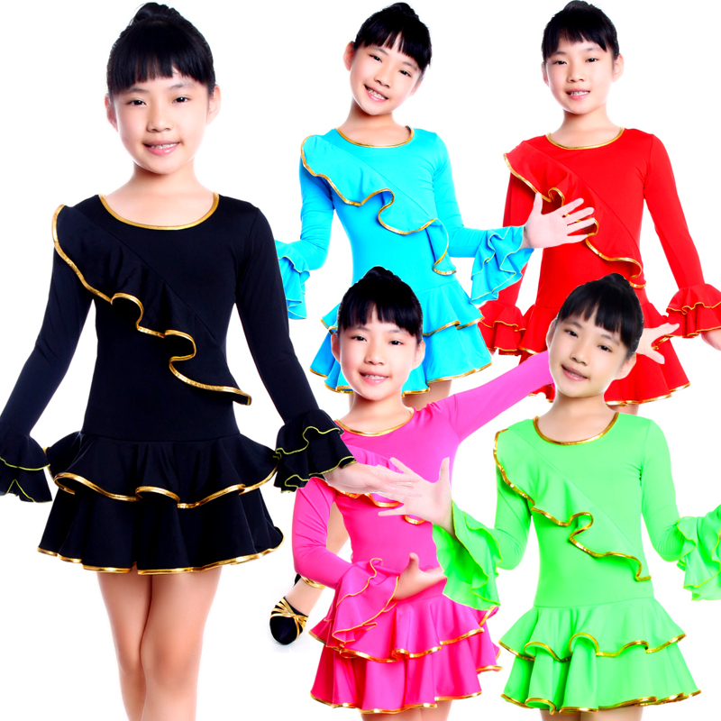 Children's dance clothing girls fall and winter clothes latin dance dress clothes and children's dance latin dance latin dance clothes children