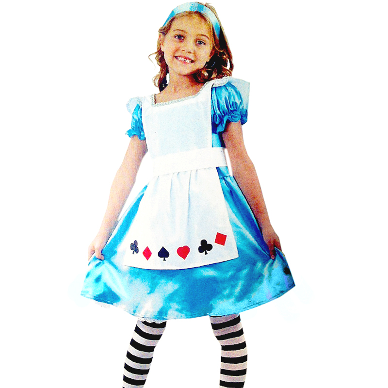Children's halloween costume masquerade cos maid servant maid dress princess dress children female children