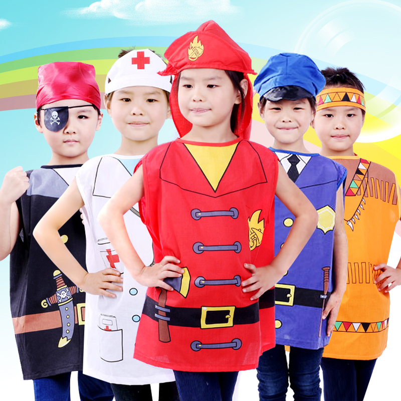 Children's halloween costume role cosplay cosplay clothes fire service nurse pirate clothes chef service