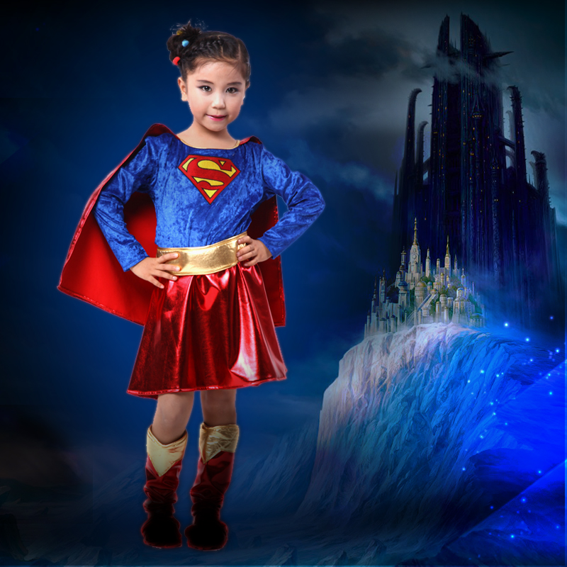 Children's halloween costume superman superman superman costume cosplay clothes suit girls costumes costumes