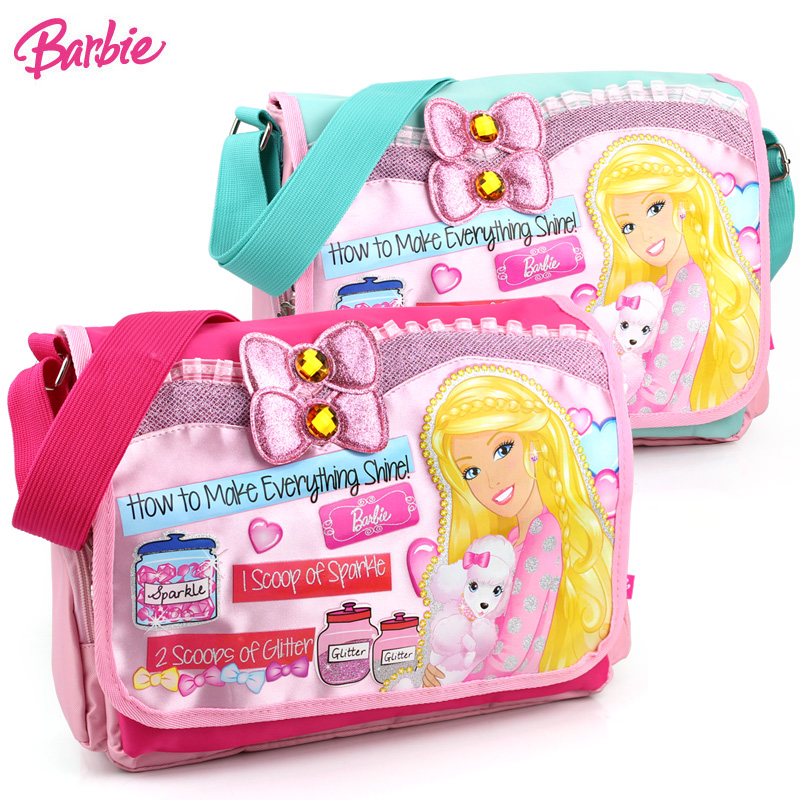 Children's messenger bag princess barbie schoolbag shoulder bag schoolbag korean fashion cute baby girls