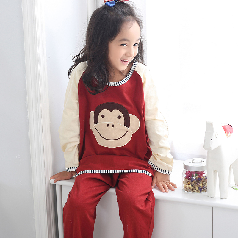 Children's pajamas cotton long sleeve autumn and winter small children big boy girl children's clothing boys tracksuit suit spring and autumn and winter