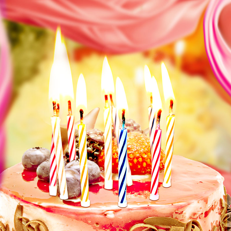 Get Quotations Childrens Party Decoration Baby Birthday Cake Candle Candles Creative Digital Smokeless Romantic Color