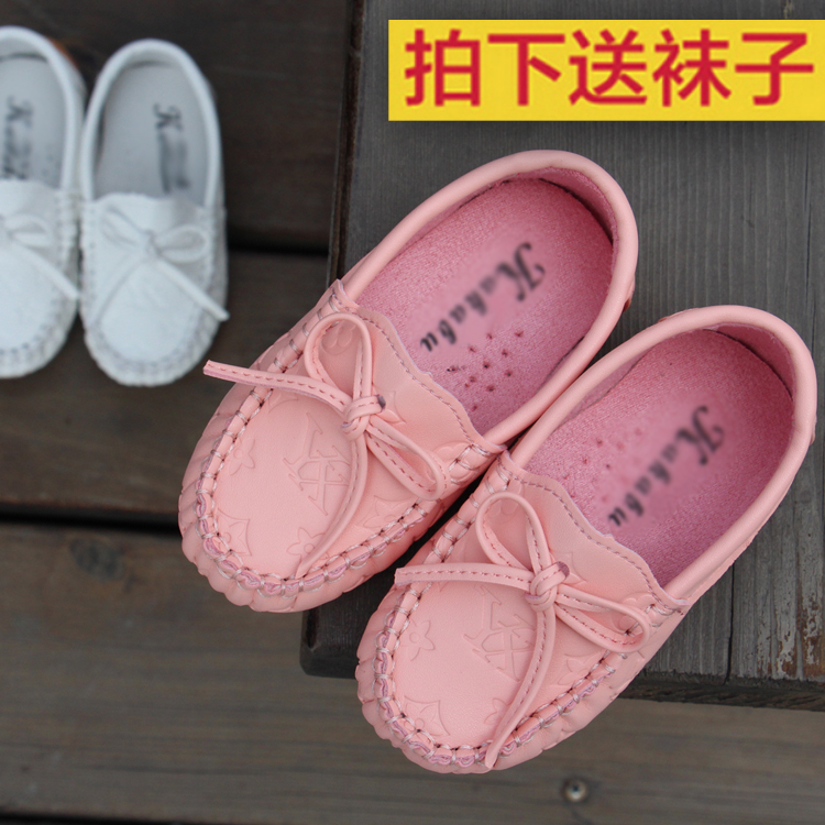 Children's shoes girls shoes princess shoes korean bow shoes for children infant child began under the age of new