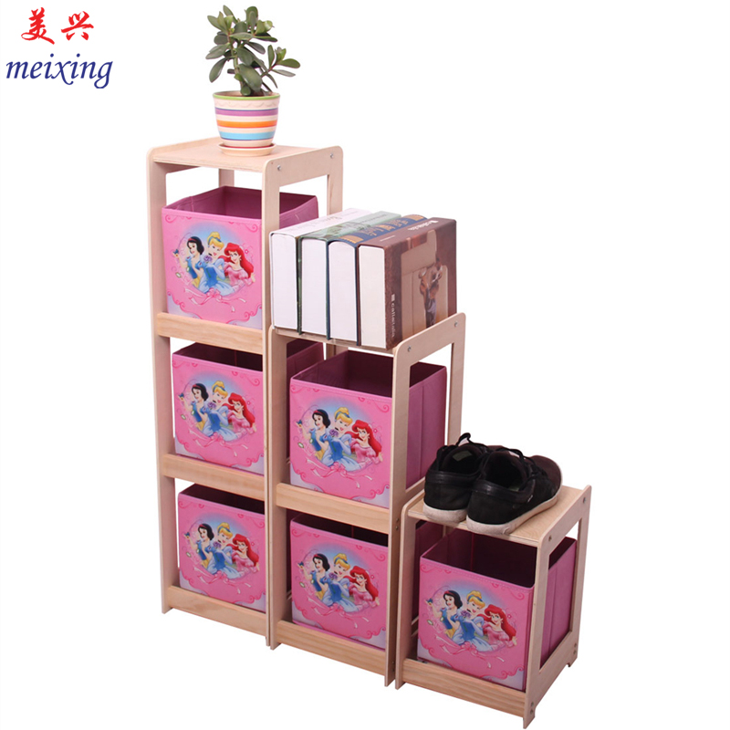 Children's toys storage rack cabinet nursery toys rack shelf bookcase storage cabinets lockers baby toys