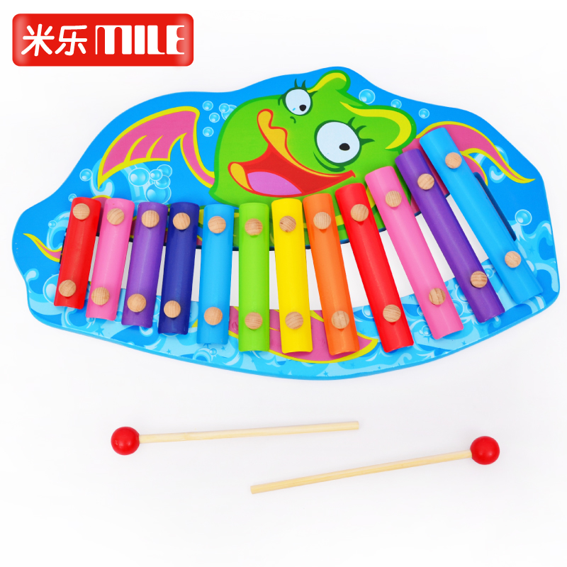 Children's wooden toys knock knock piano wooden toy piano early childhood baby baby educational toys force 0-1-3-year-old
